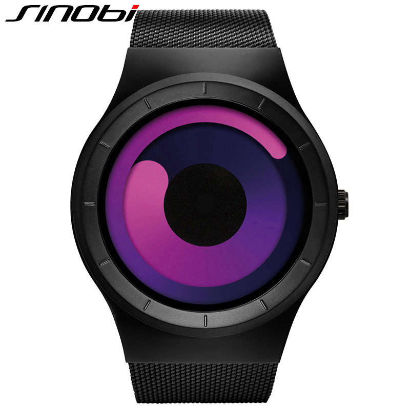 SINOBI 2017 New Men Watch Creative Sport Stainless Steel Mesh Strap Quartz Watches Male Fashion Wristwatch Relogio Masculino weide popular brand new fashion digital led watch men waterproof sport watches man white dial stainless steel relogio masculino
