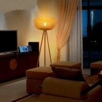 Юго Восточной Азии побеги бамбука торшеры творческий современный китайский ретро гостиная книга освещение балкон торшер a73126