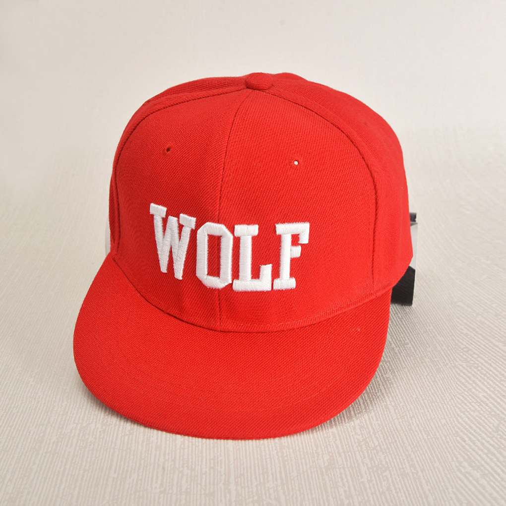 2019 3 Colors Embroidery Unisex   Baseball     Cap   Hip Hop Wolf Words Adjustable Hat Sunhat For Women