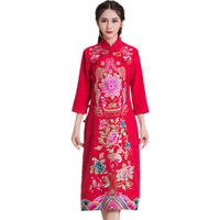 Spring Autumn Fashion Women Emmbtoidery Cheongsam Dress Casual Brand Qaulity Style Clothing Vintage Ropa Mujer Vestidos