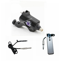 YUELONG Rotary Tattoo Machine Bishop Kit Clip Cord Pedal Style Professional BLACK Color Tattoo Machine For Liner & Shader