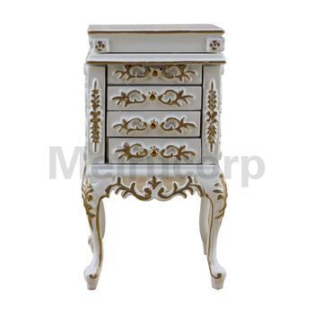 1:12 scale dollhouse miniature furniture Wooden model White gilt Jewelry cabinet 1 12 scale fine dollhouse miniature furniture white cabinet