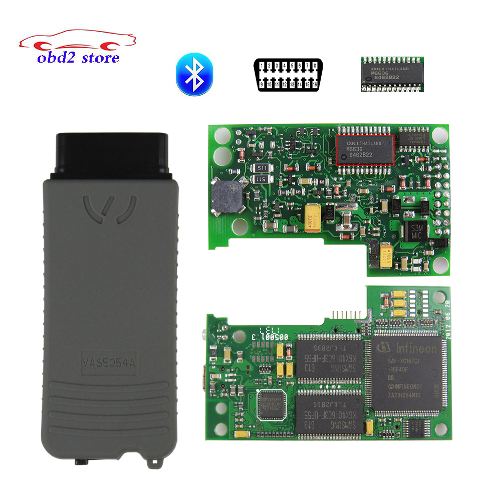 VAS5054A Full Chip VAS 5054A Oki Car Diagnostic Tool Vas5054 Odis V4 3 3 5054 Bluetooth