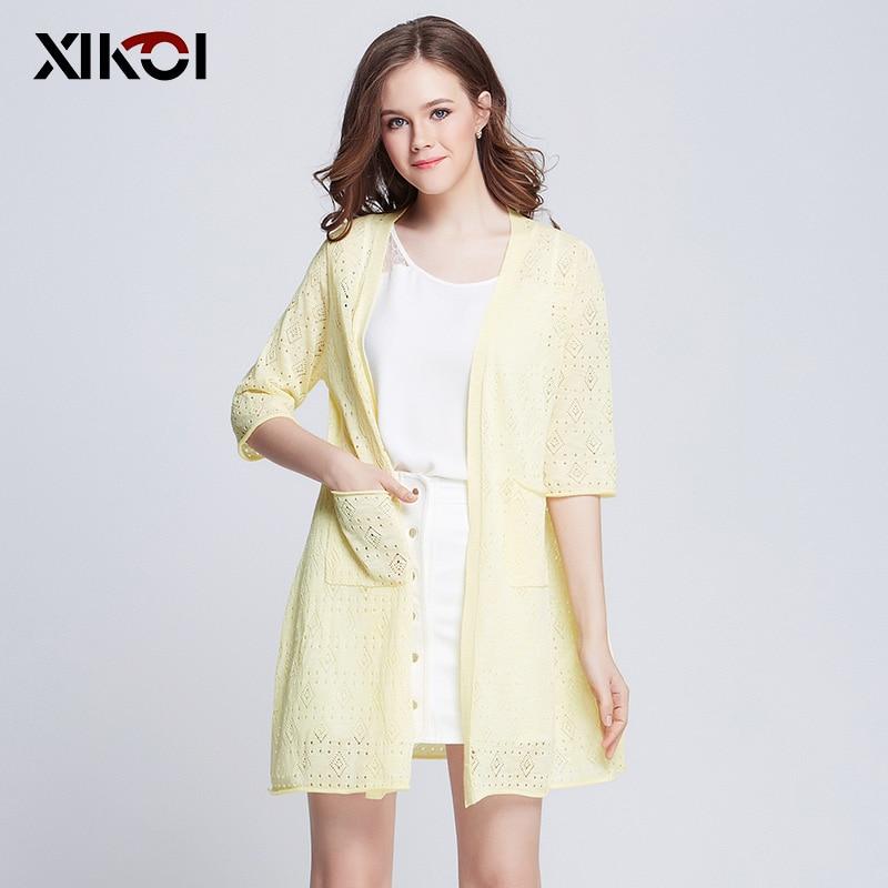 2017 Casual Women Sweaters Cardigans Kimonos Fashion Thin Knitwear Long Sweater Cardigan Womens Clothing Girls Kimono Jacket