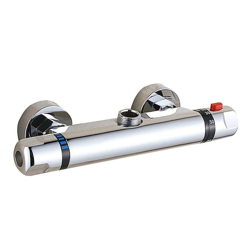 Robinet de douche salle de bain robinet thermostatique mitigeur robinet d'eau cuivre mural baignoire robinet de douche robinet d'eau froide et chaude