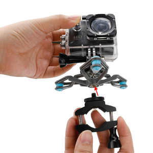 Image 5 - 자전거 자전거 충격 흡수 핸들 바 마운트 홀더 어댑터 오토바이 클립 지원 브래킷 Gopro 영웅 Xiaomi 이순신 4K 카메라