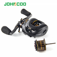 Fishing Reel 13+1 Bearings 2 Control Systems Bait Casting Reel with spare spool Centrifugal & Magnetic Baitcasting Reel 2 spools