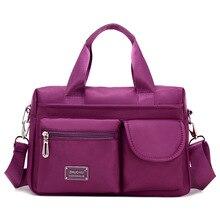 hot deal buy onefull new nylon shoulder bag women fashion versatile handbag messenger bags brand casual leisure work office shoulder bags