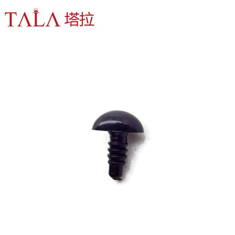 50pcs 4.5mm-26mm Hitam Plastik Keselamatan Hidung Untuk Mainan Datang - Boneka dan mainan lunak - Foto 4