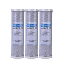 3 шт. фильтр для воды картридж с активированным углем фильтр 10 дюймов картридж Сменный фильтр CTO блок угольный фильтр