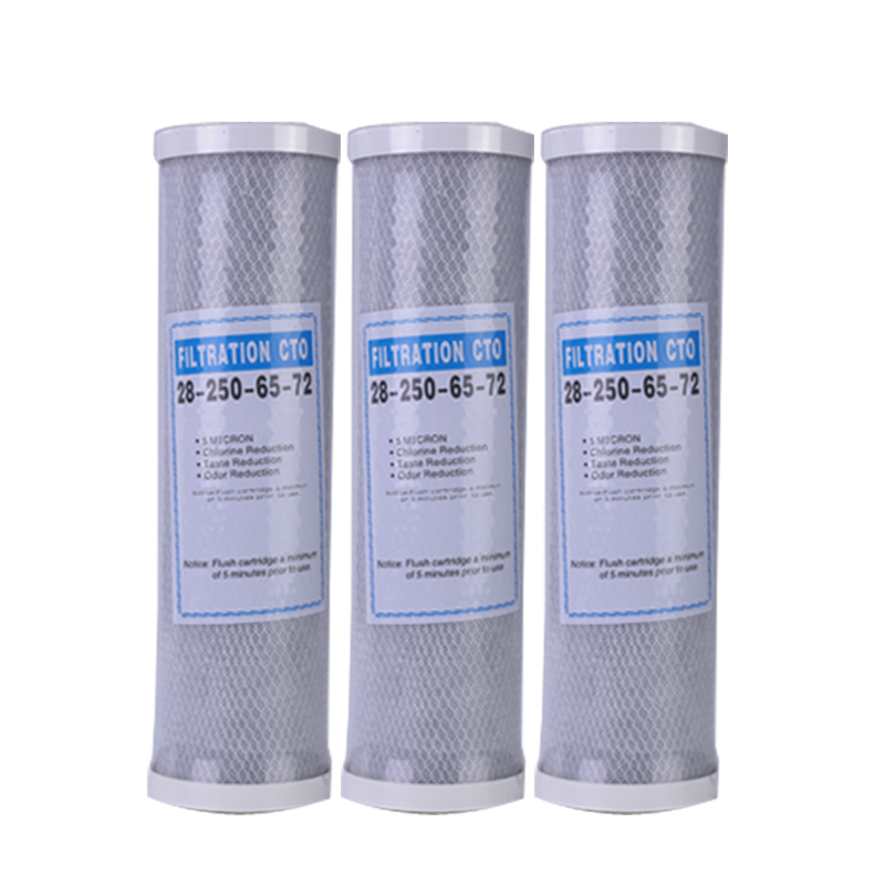 3pcs Water Filter Activated Carbon Cartridge Filter 10 Inch Cartridge Replacement Purifier CTO Block Carbon Filter Waterpurifie
