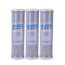 3 шт. фильтр для воды угольный картридж фильтр дюймов 10 дюймов картридж замена очиститель CTO блок угольный фильтр Waterpurifie