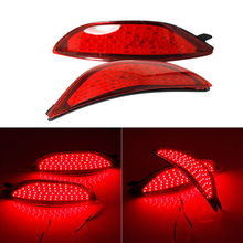 Right Left Side Red Color LED Rear Bumper Reflector DRL Driving Brake Stop Tail light Lamps For Accent 2008-2015 цена