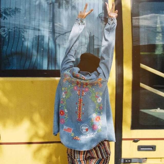 Women's Denim Boho Styled Jacket