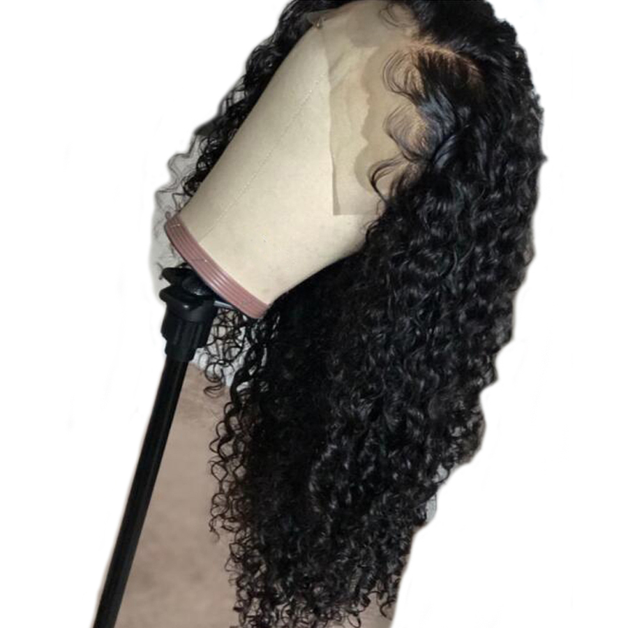 Human Hair Lace Wigs Rational Shumeida Kinky Curly Wig Remy Pre Plucked Lace Front Human Hair Wig With Baby Hair Brazilian Lace Front Wig Bleached Knots 130% Fancy Colours