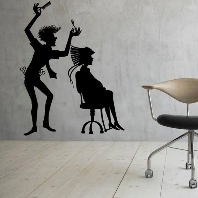 Aliexpresscom Buy Hairdressing Hairstyle Barber Shop Wall