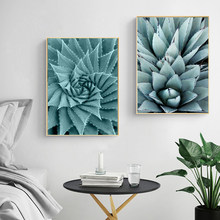 Modern Pineapple Leaves Ocean Canvas Print Paintings Nordic POP Wall Art Posters Picture for Living Room Home Decor No Frame(China)