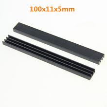 1 шт/лот радиатор 100x11x5 мм с лентами 3 м для светодиодных