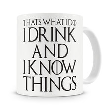 That's What I Do I Drink and I Know Things Mug Tyrion Lannister game of thrones coffee mugs Tea Cups porcelain wine beer mugen