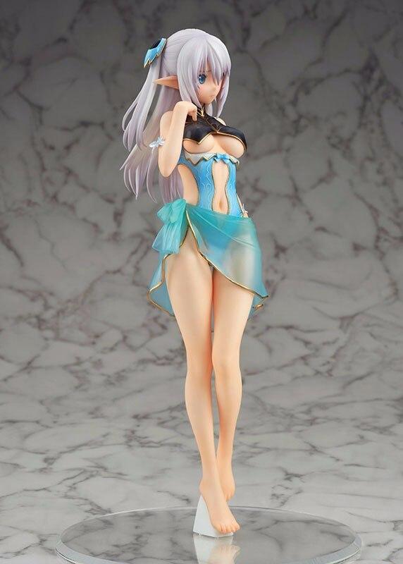 24cm Shining Blade Heroines Allina Swimsuit Ver Model PVC Bikini Blue Swimwear Model Collection Anime Action Figure Game Doll 2