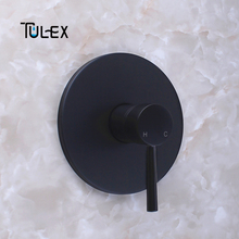 TULEX Concealed Shower Mixer Wall Mounted Valve Hot & Cold Water shower Diverter Shower Faucet Brass Shower Mixer for Bathroom european style wall mounted shower mixers dual handle hot and cold water handheld artistic shower faucet kit