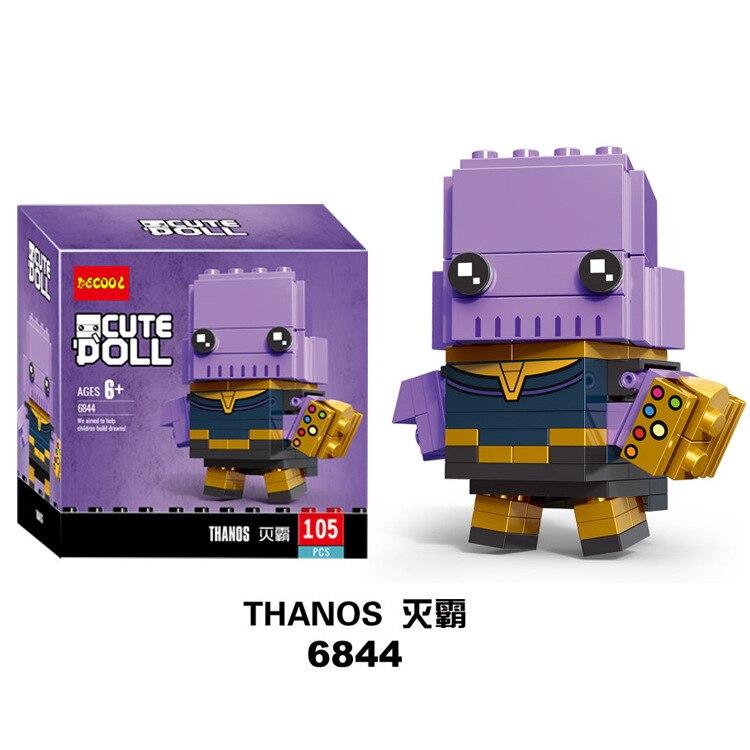 Nouveau brickheadz avengers marvel Super héros Batman iron Man Spiderman blocs de construction briques jouets compatibles avec