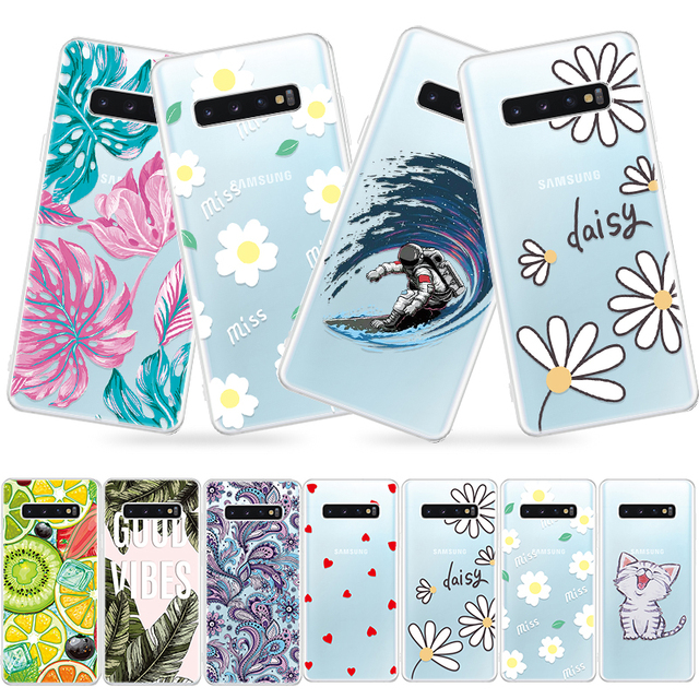 Soft TPU Pattern Phone Case For Samsung Galaxy S10 Plus S8 S9 S7 S10e For Samsung A8 Plus A10 A20 A30 A40 A50 A60 A70 Back Cover