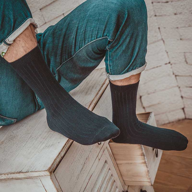 Hight Quality Men Socks 5Pair/Lot Solid Color Cotton Socks Casual Bussiness Socks