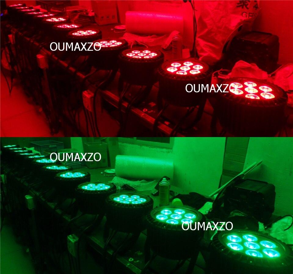 luz ao ar 6in1 led par luz dmx 02
