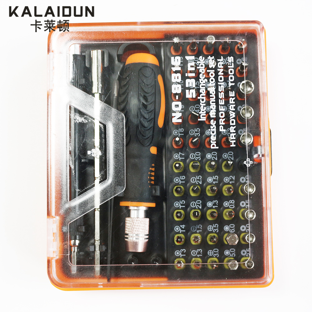 KAILAIDUN 53 in 1 Multi-purpose Precision Magnetic Screwdriver Set with Trox Hex Cross Flat Triangle Screwdriver for phone PC jetech 6 in 1 rotating multi bit multifunction kit screwdriver universal flat triangle screw starter torx screwdriver set multi