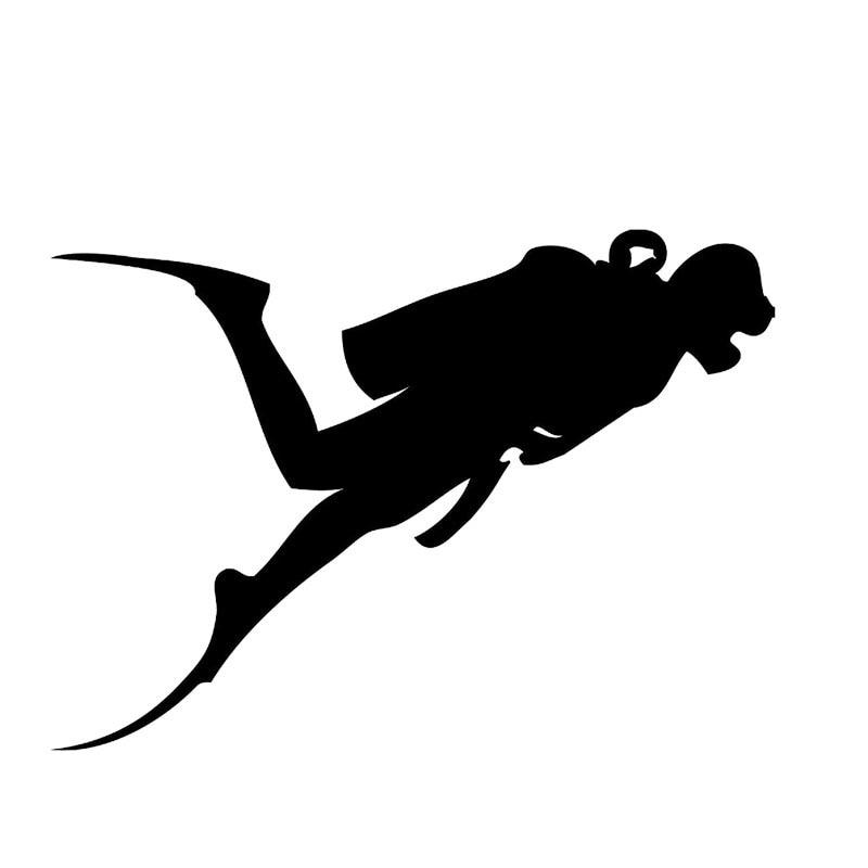 Hot Sale Car Stying Scuba Diving Vinyl Decals Sticker Diver Snorkling Suit Boat Car Stying Jdm slip-on shoe