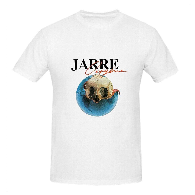 Men 39 s o neck short funny t shirt jean michel jarre oxygne for Make a photo t shirt