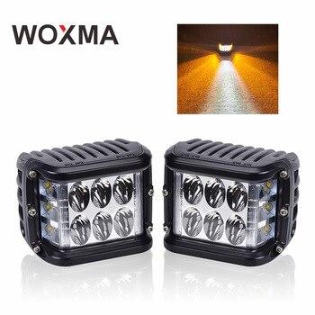 Светодиодный светодио дный Автомобильный свет 72 Вт 4-дюймовый рабочий куб боковой шутер двойной цвет В 12 светодио дный светодиодный Автомоб...