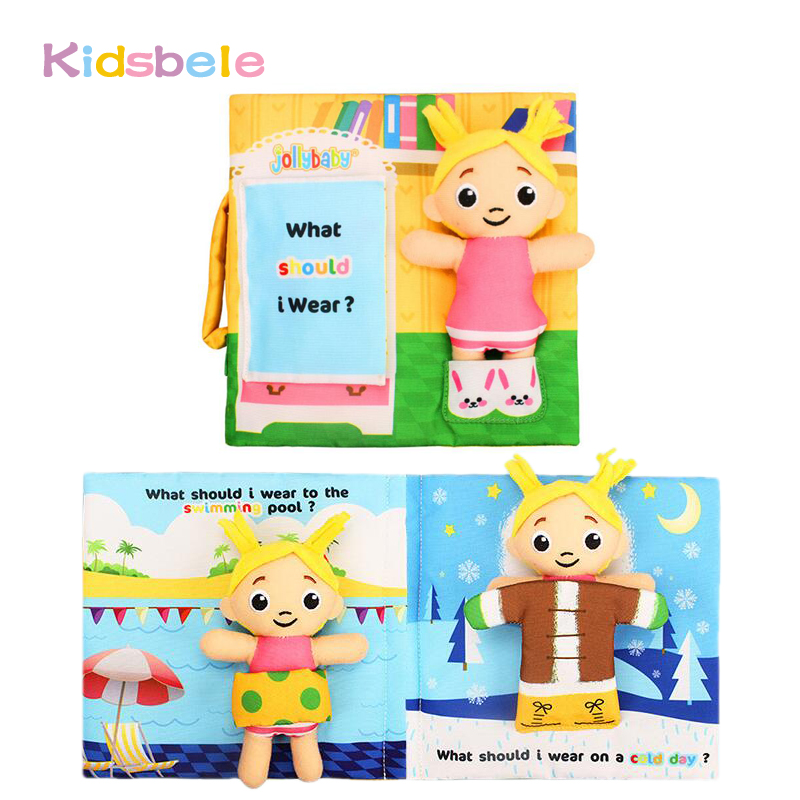 Soft Rattles Baby Toys Soft Books For Infant Touch Sence Education Developing Jollybaby Baby Toddler Toys Colorful Books