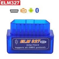 5 stks Super Mini V2.1 ELM327 OBD OBD2 ELM 327 Bluetooth Interface Auto Scanner Diagnostic Tool voor Android Windows Symbian