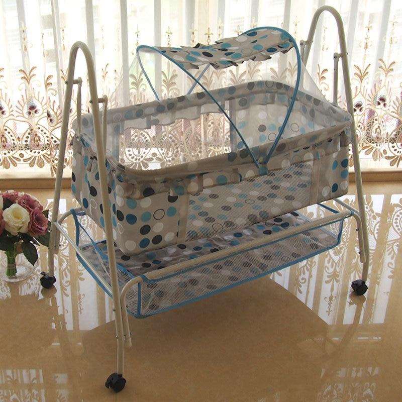 Babywiegebett, multifunktionales Babyschaukelbett, - Babymöbel - Foto 6