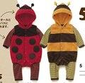 Ребенка комбинезон детские прекрасный животных пчелы младенцев одежда ползунки божья коровка жуки стиль весна и осень с длинными рукавами дети комбинезоны
