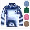 Free shipping!New 2015 Autumn boys t-shirts,Casual child clothes,fashion boys turtles t-shirts,Stripe Cotton boys shirts