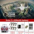Сыма X5HW FPV RC Мультикоптер Drone с Камерой hd WIFI FPV дрон сыма X5SW Обновление RC Вертолет с 6 батарея + 6 в 1 кабель
