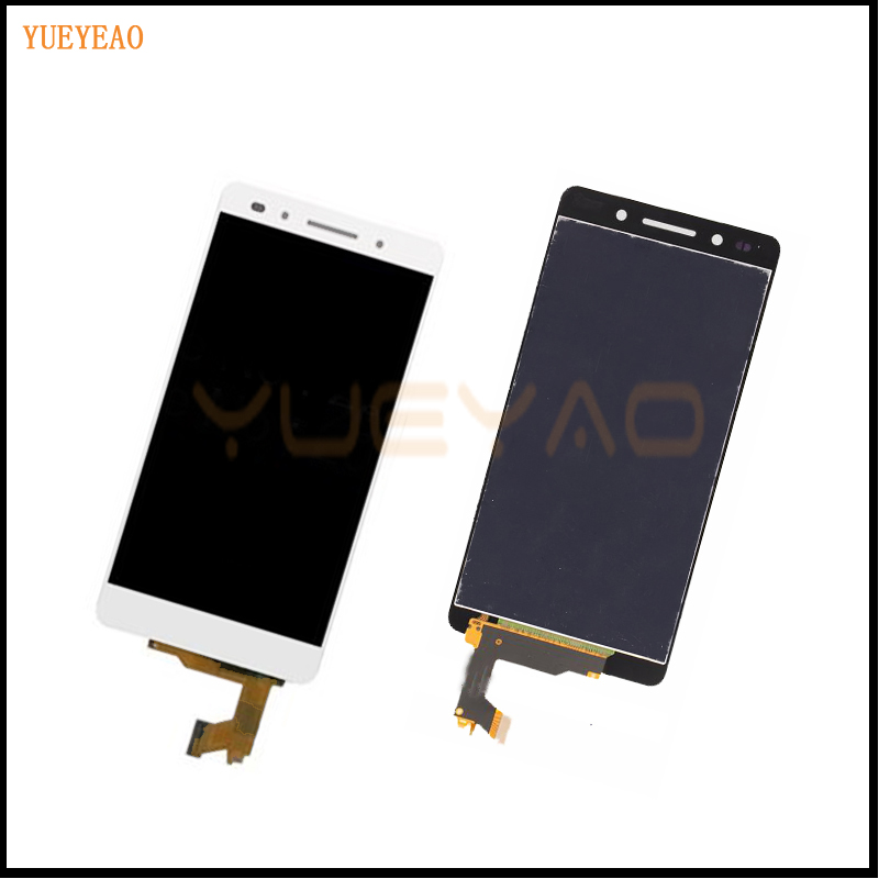 Подробнее о 100% Original For Huawei Honor 7 Full LCD Display Monitor Panel + White Touch Screen Digitizer Glass Sensor Lens Assembly lcd display touch screen digitizer assembly for huawei honor 7 plk al10 tl01h cl00 panel front outer glass lens black white gold