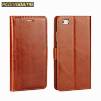 Luxury Wallet Stand Card Slot Flip Phone Cover For Huawei Ascend P8 Retro Full Cowhide Genuine