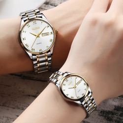 Olevs Couple Watches For Lovers Stainless Steel Mens Women'S Watches Top Luxury Waterproof Watch Relogio Masculino Clock