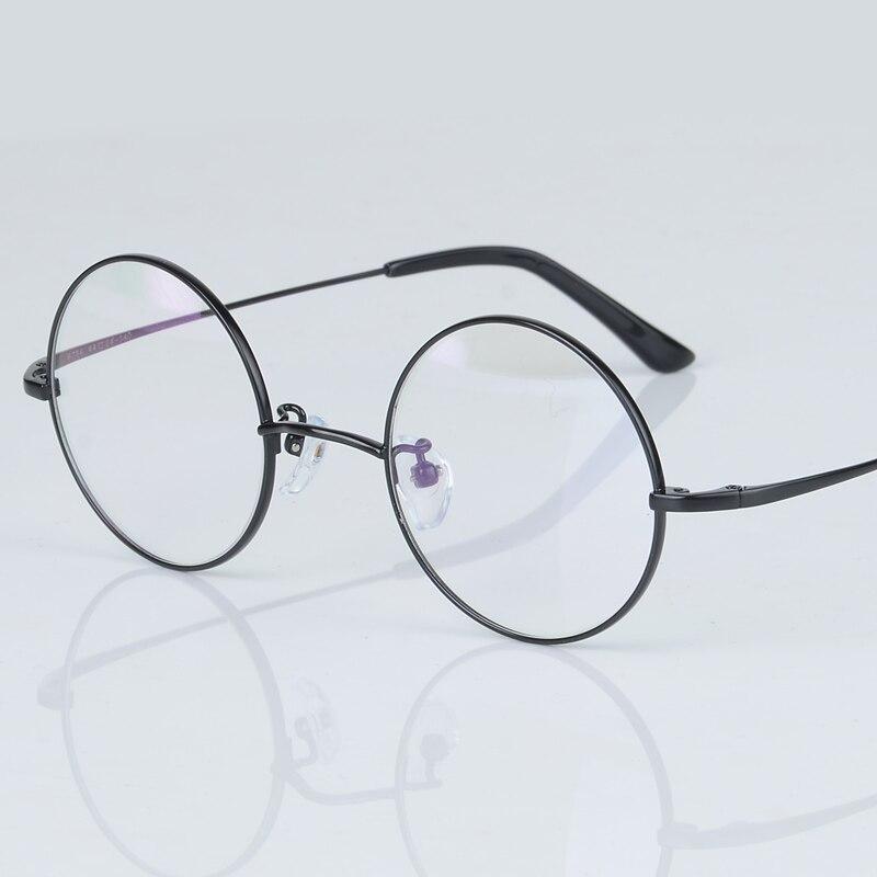 JanMo 2017 New Fashion wizard 100 pure Titanium Eyeglasses Frames Men women round Eyeglasses Gold Glasses