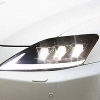 2 шт. светодиодный фары для LEXUS IS250 2006 2013 Автомобильный светодиодный свет двойной ксеноновые линзы автомобильные аксессуары Габаритные огни
