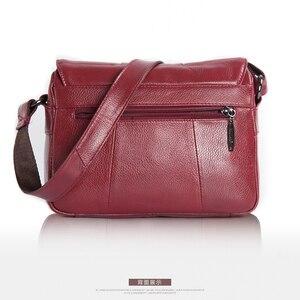 Image 3 - Altın mercan hakiki deri bayan omuz çantaları lüks kadın çanta kadın moda Crossbody çanta kadın büyük el çantası çanta