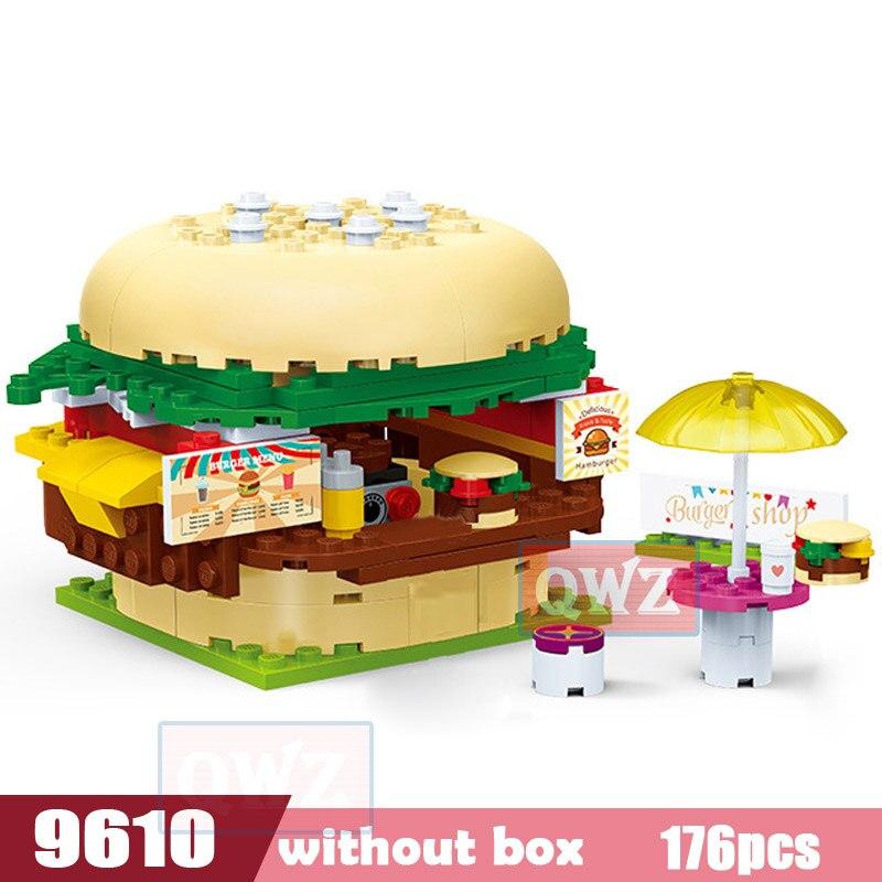 Legoes город девушка друзья большой сад вилла модель строительные блоки кирпич техника Playmobil игрушки для детей Подарки - Цвет: 9610 without box