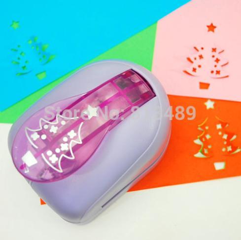 Christmas Tree Card Cutter Paper Craft Punch Printing Paper Shaper Punch Perfurador De Papel Para Artesanato S2920