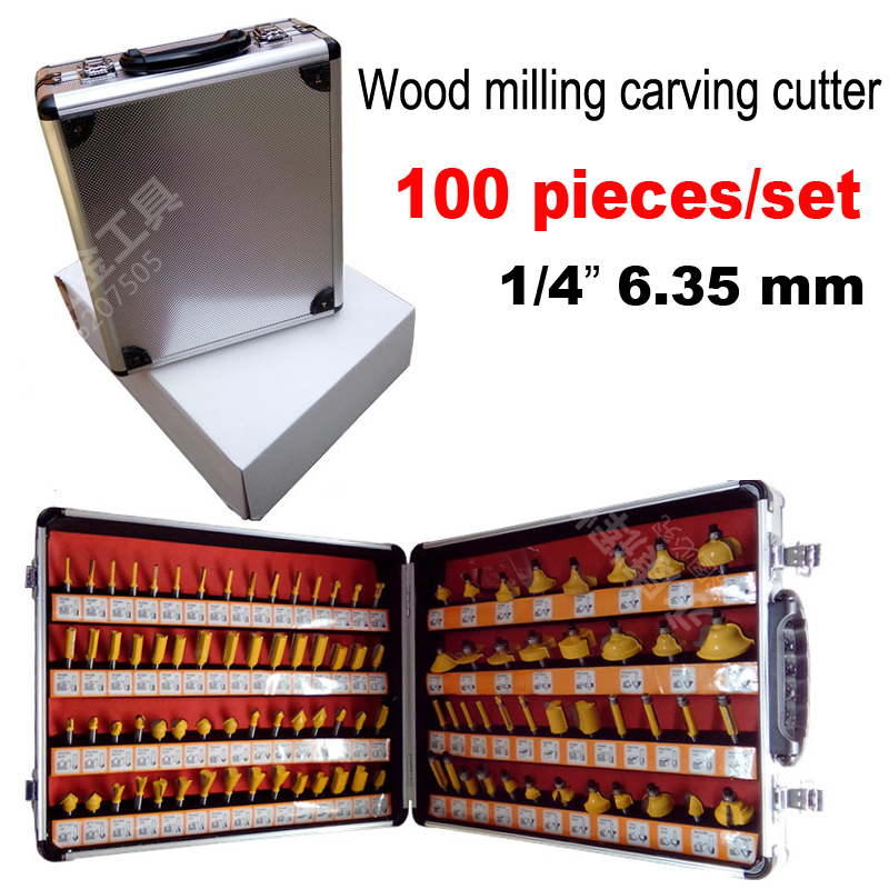 100PCS 1 4 Shank Woodworking Cutting Tools 6 35mm Engraving machine bits Engraving bits engraving blades