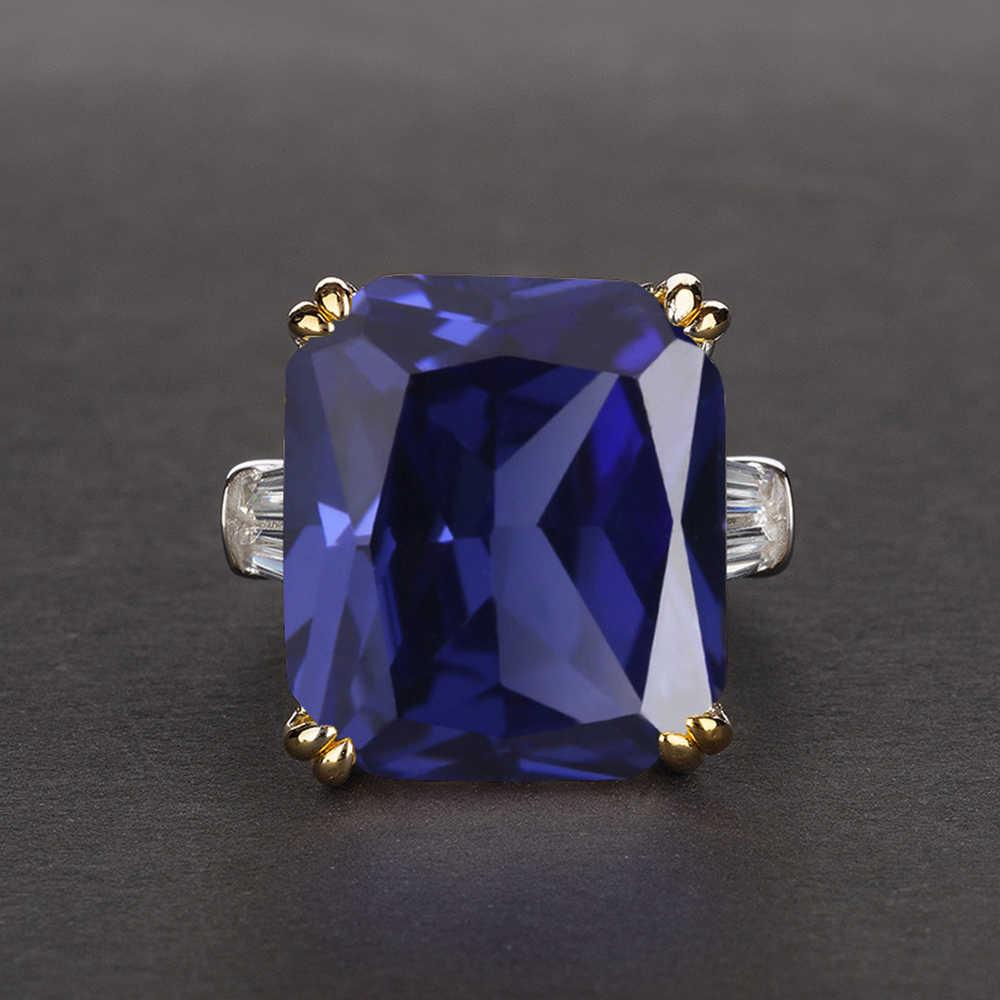 PANSYSEN Charms 14x16 มม.พลอยทับทิมแหวนผู้หญิงผู้ชายของแท้ 925 เงินสเตอร์ลิงแหวนนิ้วมือเครื่องประดับ Fine