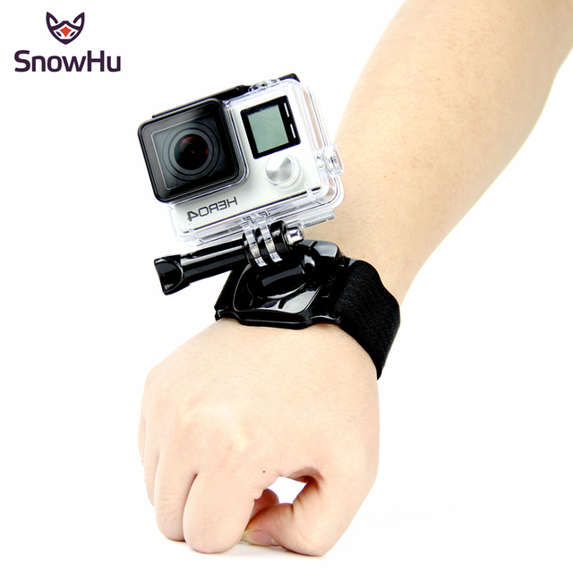 SnowHu for Gopro Accessories 360 Degree Rotation Hand Wrist Strap Band for Go pro Hero 9 8 7 6 5 for Xiaomi Yi 4k for sjcam LD09